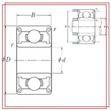 2,38 mm x 4,762 mm x 2,38 mm  ISO R133-2RS ISO Bearings