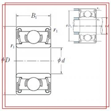 8 mm x 16 mm x 5 mm  ISO 688-2RS ISO Bearings
